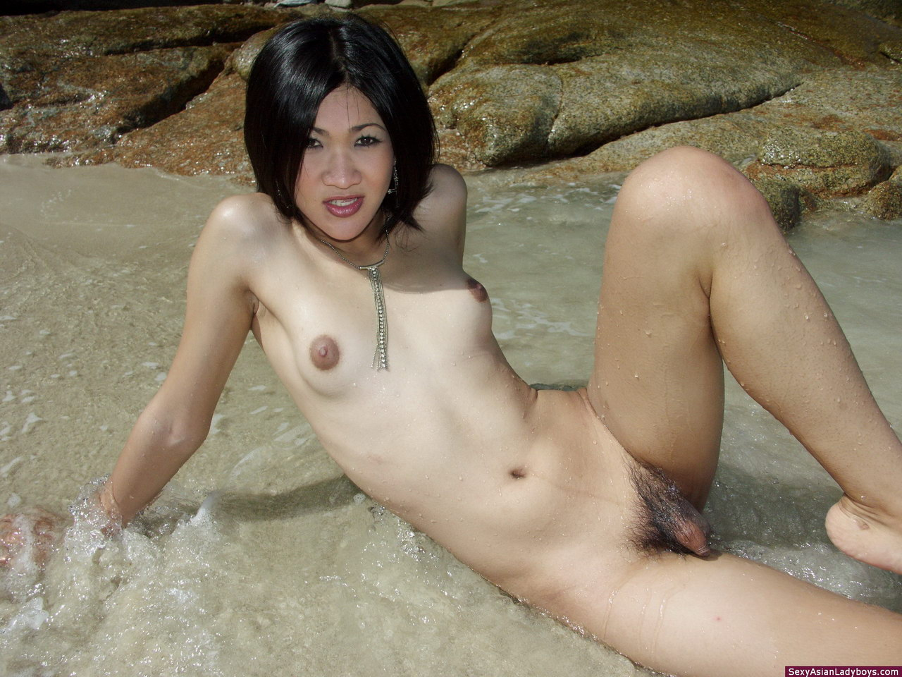 Hot Shemale In Beach